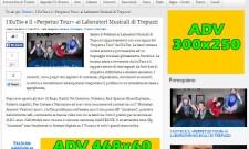 """Spazi pubblicitari presenti nella sezione """"News"""""""